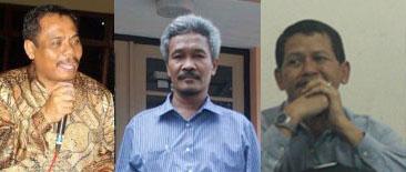 Dari kiri ke kanan: Ki Drs. Tarto Sentono, M. Pd., Ki Drs. H. Pardimin, M. Pd., Ki Drs. Hazairin Eko Prasetyo, M.S.,