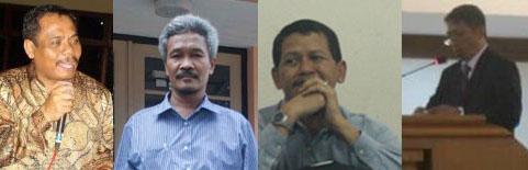 Dari kiri ke kanan: Ki Drs. Tarto Sentono, M. Pd., Ki Drs. H. Pardimin, M. Pd., Ki Drs. Hazairin Eko Prasetyo, M.S., Ki Drs. Hadi Pangestu Rihardjo, ST., MT.