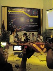 UKM Sanggar Pamong saat mengisi acara HUT ke-35 UKM Pramuka UST/Jumat, (20/11)/ Dok. Istimewa